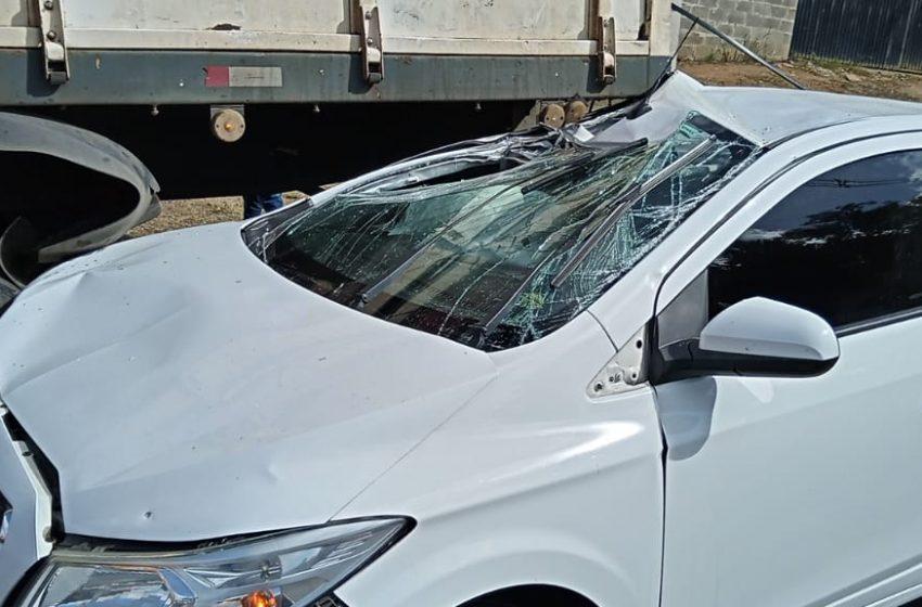 Condutora que se envolveu em acidente na PR-151 da detalhes da colisão