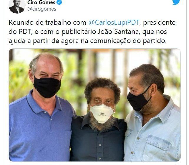 João Santana, ex-marqueteiro do PT, é contratado pelo PDT de Ciro Gomes enquanto cumpre regime aberto de prisão