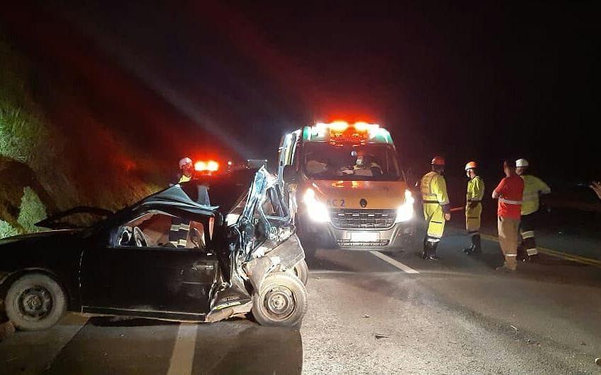Bebês gêmeos são socorridos após acidente em Mafra SC