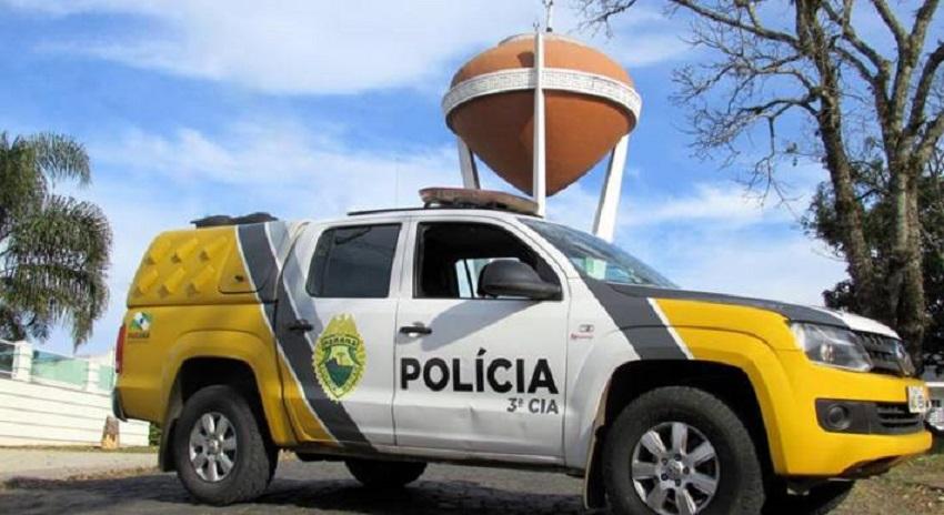 PM de São Mateus do Sul cumpre mandado de prisão e coíbe violência doméstica