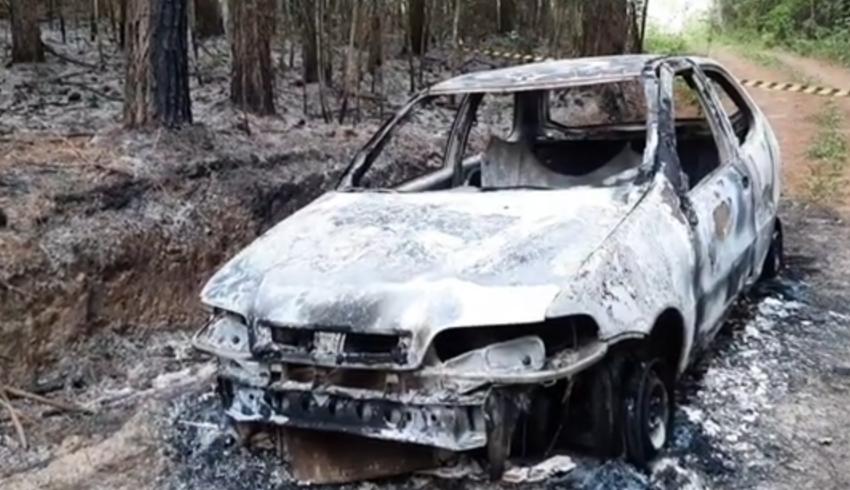 Corpo carbonizado é encontrado dentro de carro destruído pelo fogo em São João do Triunfo