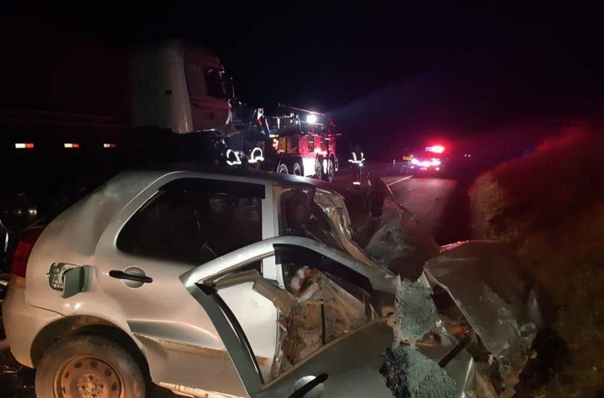 PRF atende grave acidente em Imbituva na BR 373