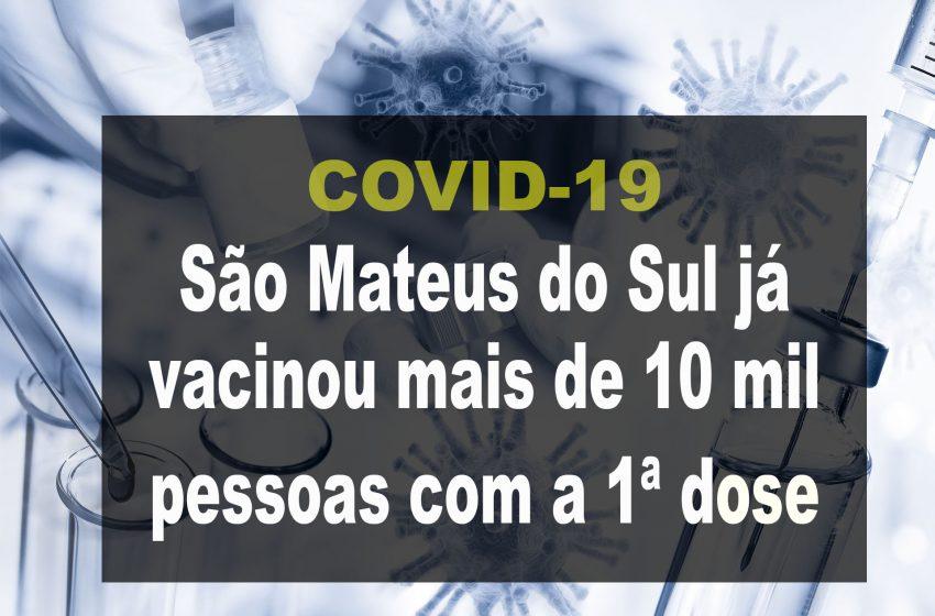 Vacinação contra Covid-19 iniciou em janeiro em São Mateus do Sul