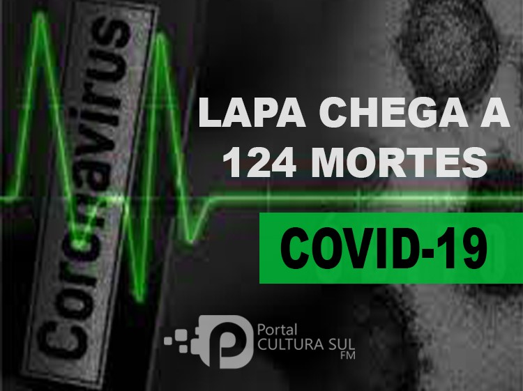 Lapa registrou 6 mortes por Covid-19 neste final de semana, chegando a 124 óbitos
