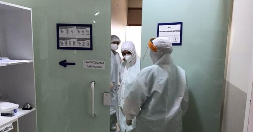A ala covid do Hospital de Três Barras está lotada, pela 1ª vez