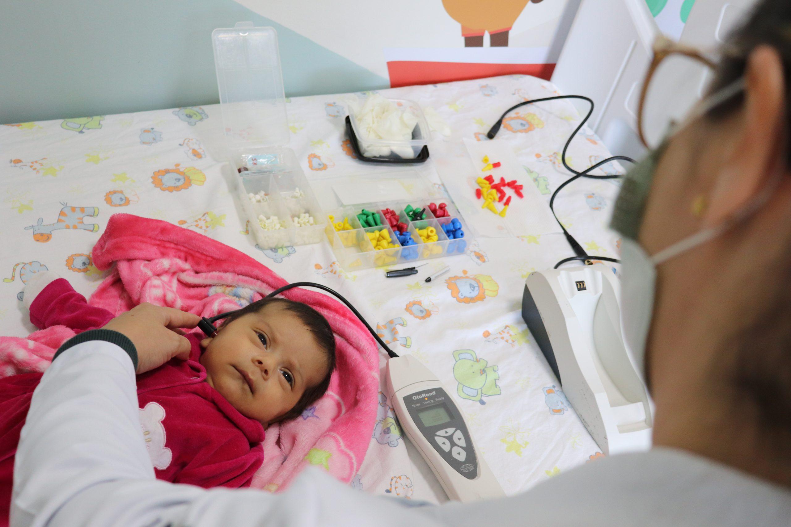 Teste da orelhinha será realizado somente pela manhã nesta terça-feira, 06, em São Mateus do Sul