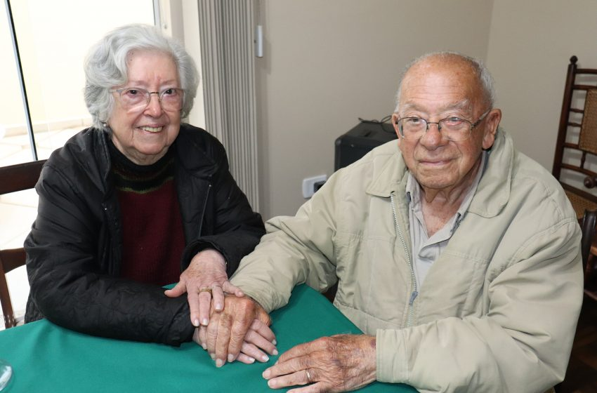 """""""Amor é tudo, mas é preciso ter respeito e tolerância"""", destacou casal com mais de seis décadas de união"""