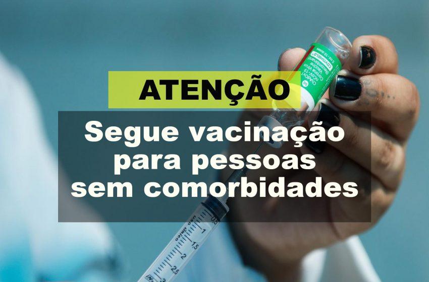 Segue vacinação em pessoas de 57 anos sem comorbidades em São Mateus do Sul