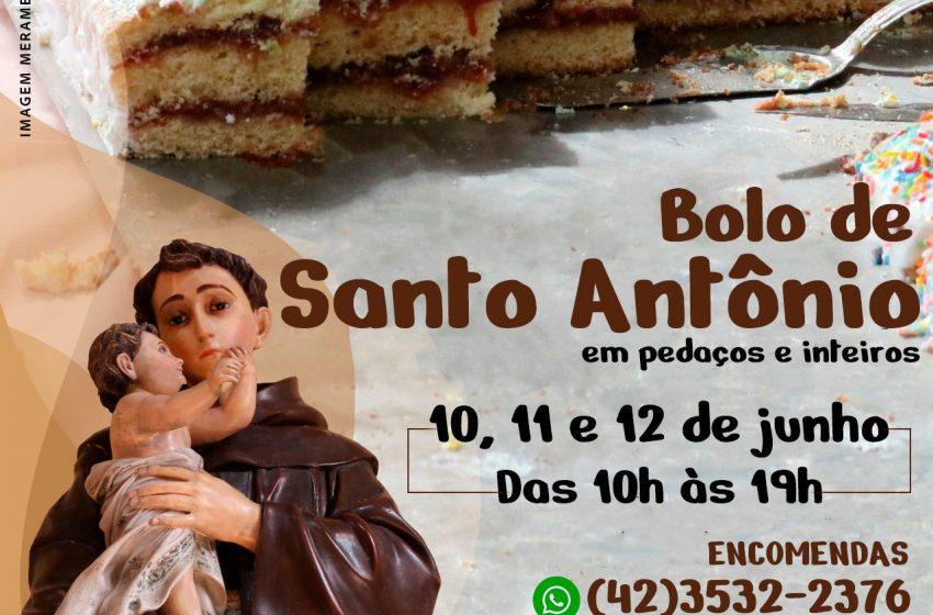 Bolo de Santo Antônio começa a ser vendido em São Mateus do Sul