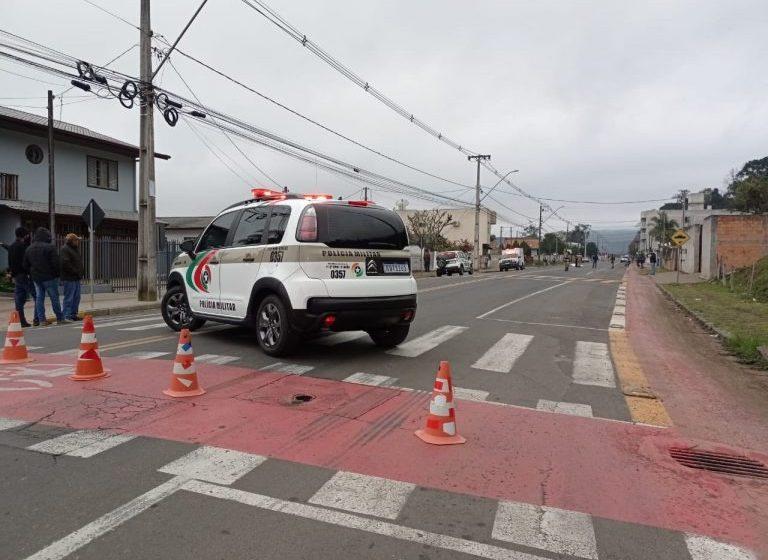 Mulher morre após ser atropelada por um moto 300 cc em Porto União