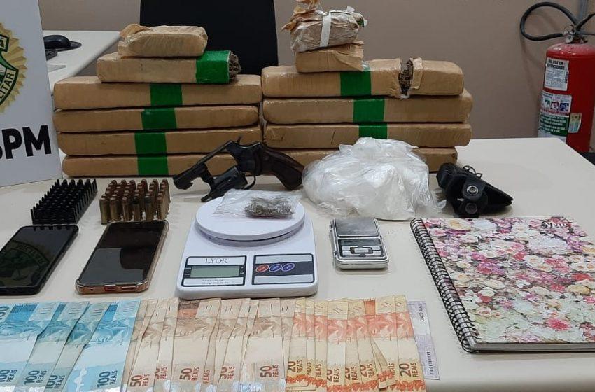 PM apreende 7 kg de maconha e 700 g de cocaína em União da Vitória