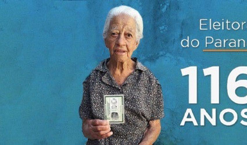 Mulher de 116 anos tira o 1º título em Londrina e poderá votar nas eleições 2022