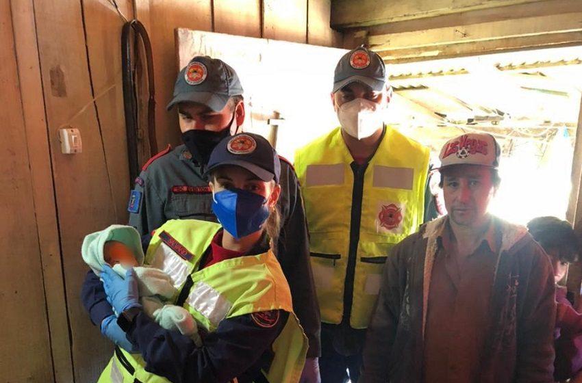 Bombeiros de Canoinhas orientam e salvam recém-nascido engasgado