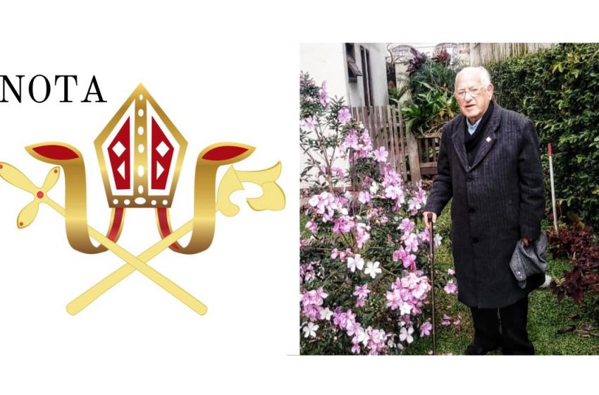Morre o bispo dom Walter Ebejer, da Diocese de União da Vitória aos 91 anos