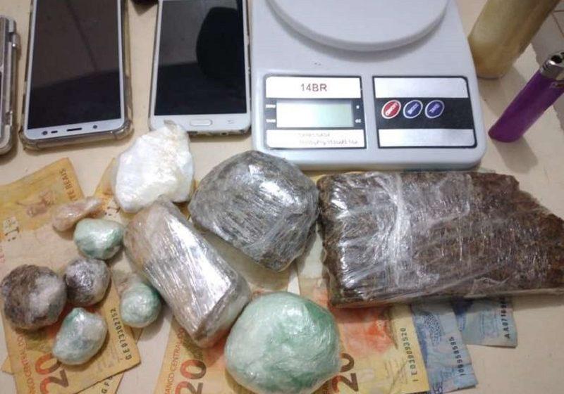 Comercio ilegal de drogas é flagrado pela PM em São Mateus do Sul