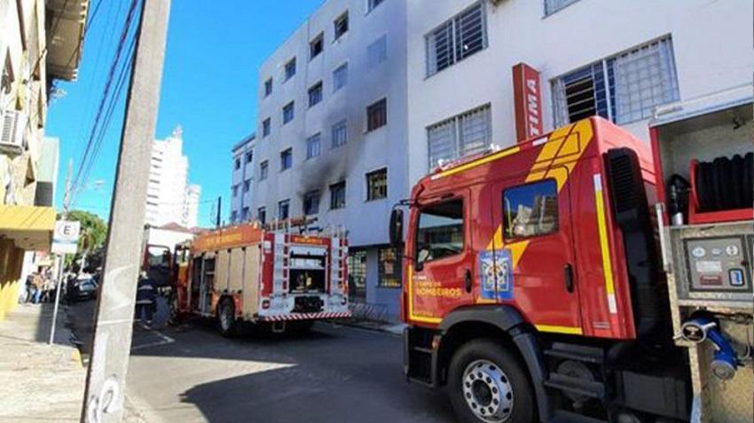 Secador de cabelo teria sido o motivo de incêndio no Centro de União da Vitória