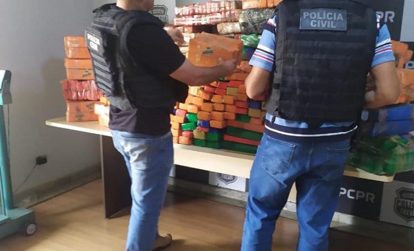 Polícia Civil tem apreensão de drogas 72% maior em 2021, comparado com ano passado