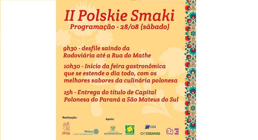 São Mateus do Sul recebe título de Capital Polonesa em meio à II Polskie Smaki