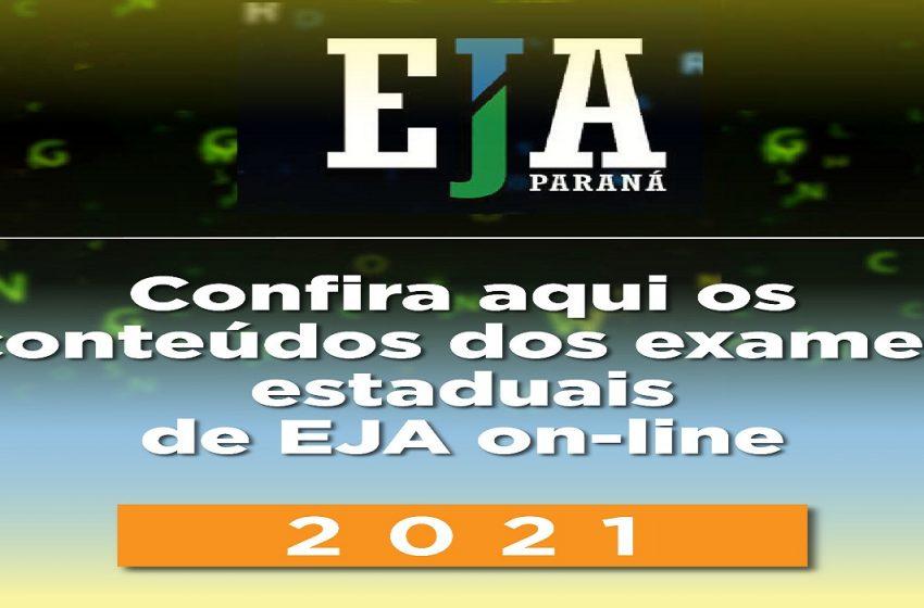 Confira a lista de conteúdos dos exames EJA