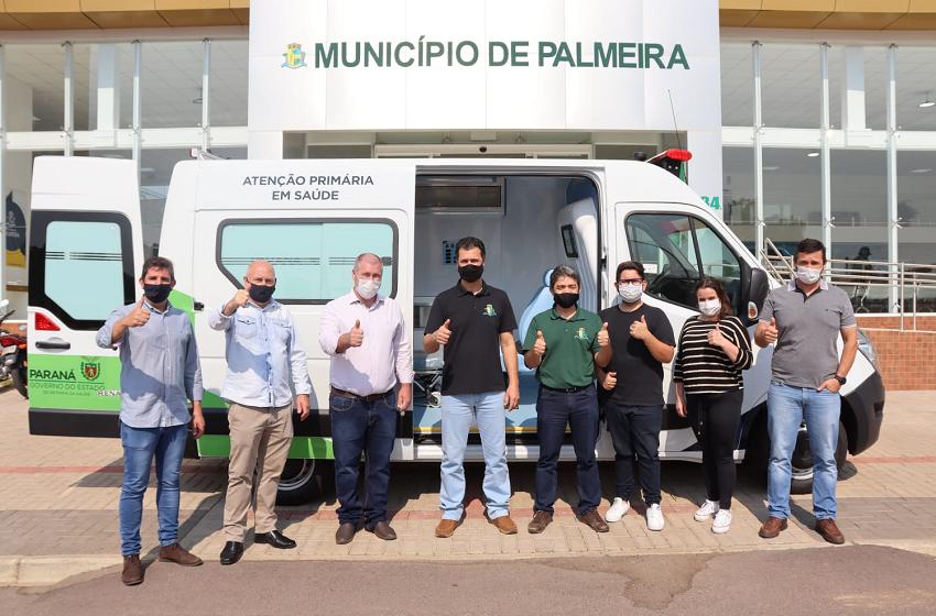 Deputado Bacil formaliza entrega da 1ª ambulância da atual gestão em Palmeira
