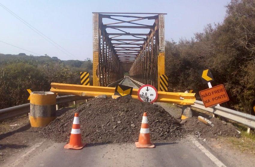 Ponte entre a Lapa e Campo do Tenente está interditada até 30 de agosto