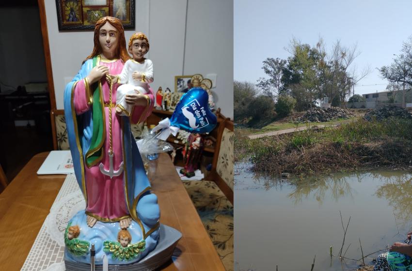 Comunidade vai levar imagem de Santa para colocar na Prainha da Vila Amaral