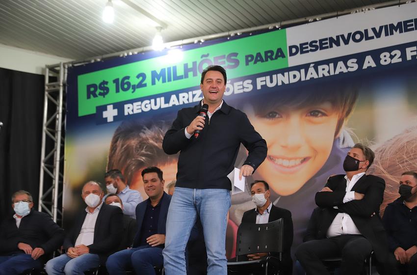 Ratinho Júnior estará na região Centro-Sul para entregar títulos e liberar investimentos