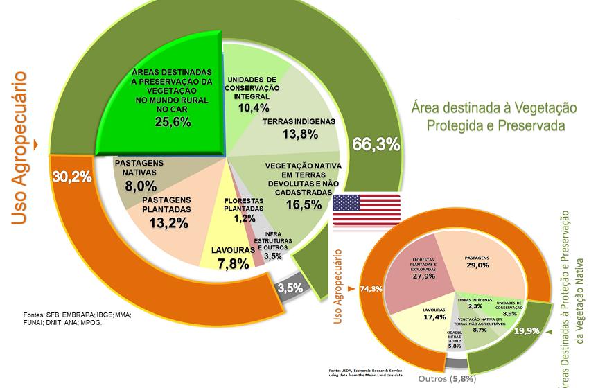 Acusado de devastador ambiental, Brasil tem 2/3 do território preservado