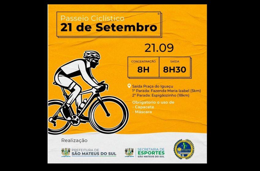 Aniversário de São Mateus do Sul contará com passeio ciclístico