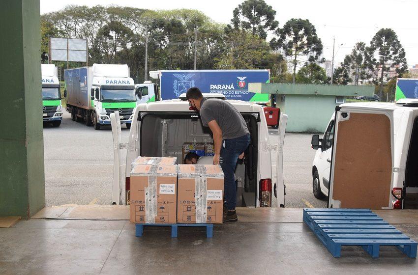 Paraná recebeu mais de 700 mil doses de vacina contra Coronavírus no final de semana