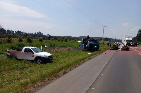 Morre motorista de carro com placas de São Mateus do Sul envolvido no engavetamento na BR-280