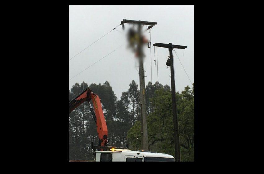 Choque elétrico mata funcionário terceirizado da COPEL em Mallet