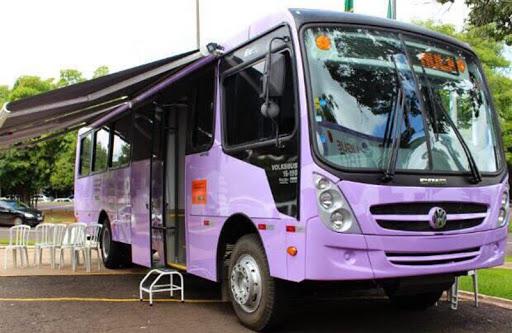 Ônibus Lilás estará atendendo em São Mateus do Sul na próxima segunda-feira