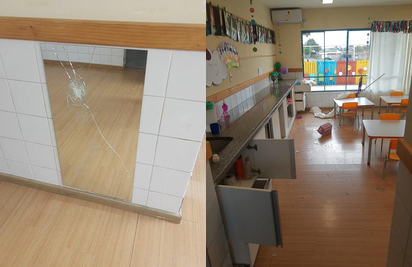 CMEI de Palmeira é alvo de furto e vandalismo no local destinado para as crianças