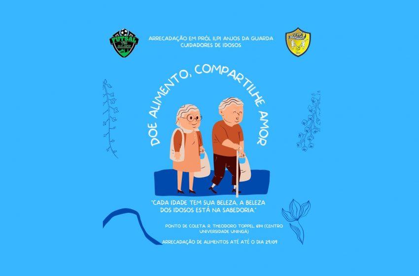 Doe alimento, compartilhe amor: escolas de futebol se unem em prol de Lar de Idosos em São Mateus do Sul