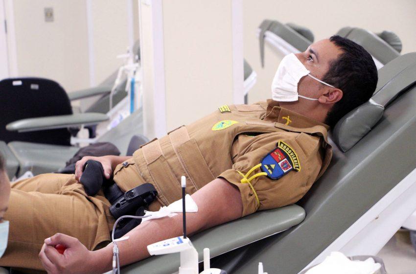 Para comemorar aniversário da PM, Batalhão de Polícia Rodoviária promove doação de sangue