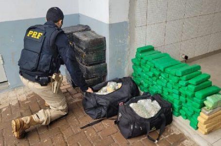 PRF apreende mais de 1 tonelada de maconha no Paraná