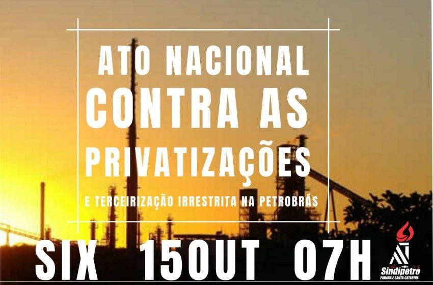 Petroleiros da SIX se movimentam em ato nacional contra privatizações e venda da unidade