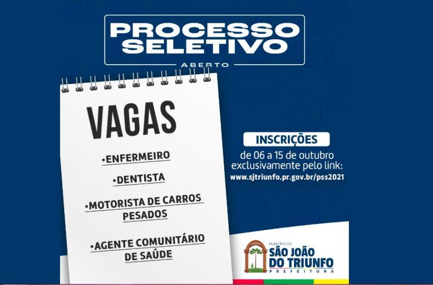 CONFIRA: Prefeitura de São João do Triunfo abre processo seletivo para contratações
